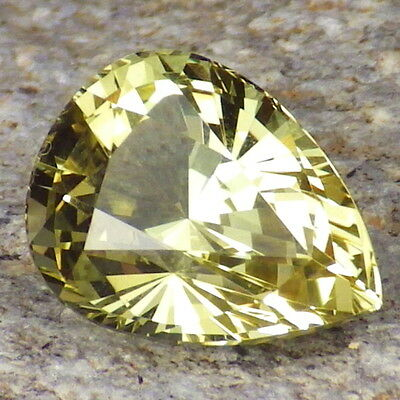 APATITE-MEXICO 3.75Ct FLAWLESS-PRECISION FACETING-LIVELY YELLOW GREEN COLOR!