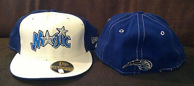 low priced 281d3 8a1d4 Orlando Magic New Era 59FIFTY Fitted Hat NBA Retro Throwback Blue White  Size 7