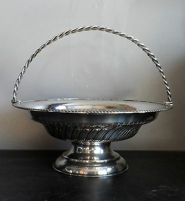 Antique Solid Sterling Silver 1904 Swing Basket Fruit Bowl Center Piece - 520g