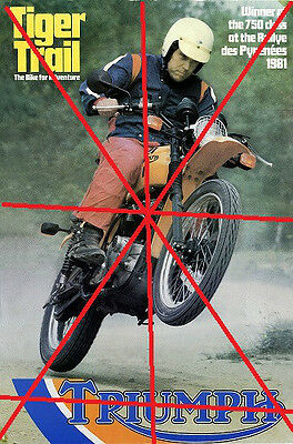 TRIUMPH TR7T TIGER TRAIL OWNERS/COLLECTORS/FACTORY  POSTER (small version A3)