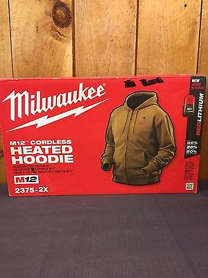 Milwaukee Heated Men's Hoodie Tan Size XL