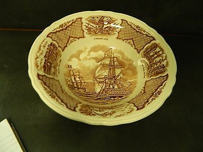 Meakin Fair Winds Brown  Round Vegetable Bowl 8 1/2 Inch