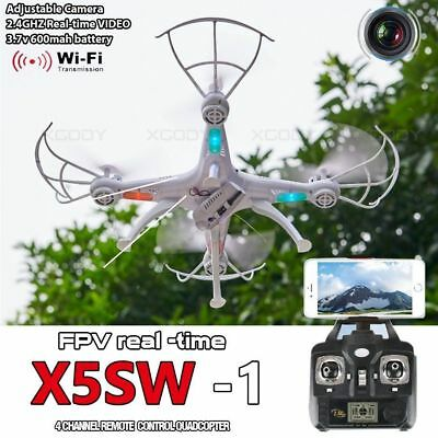 X5SW-1 Drone White Wifi FPV Camera Drone 2.4Ghz 4CH RC with 0.3MP Quadcopter RTF