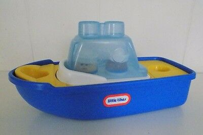 Vintage Little Tikes 6 Piece Toy Boat Bathtub Boat