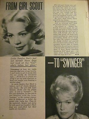 Sandra Dee, Full Page Vintage Clipping