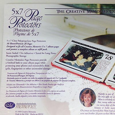 New Sealed Creative Memories 5x7 Album Page Protectors 10 For 20 Pages 1999