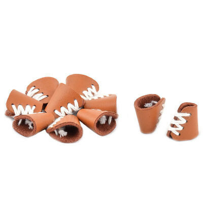 Household Unisex Faux Leather Clothes Overcoat Cord Lock Stopper Fastener 10pcs