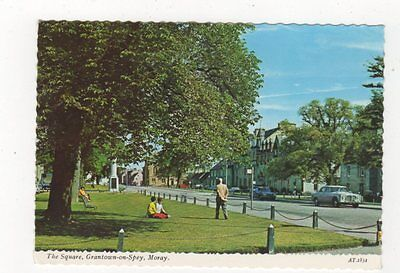The Square Grantown On Spey Moray 1973 Postcard 527a