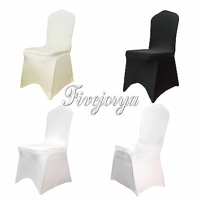 1/5/10/50/100 Lycra Spandex Stretch Chair Covers For Wedding Event Banquet Decor