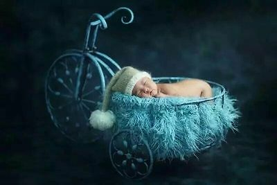 New Fairy  Cute Iron Tricycle for Newborn Baby Creative Photography Prop D-75