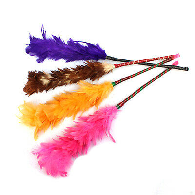 New Multicolor Feather Duster Plastic Handle Turkey Office Home Sofa Cleaner