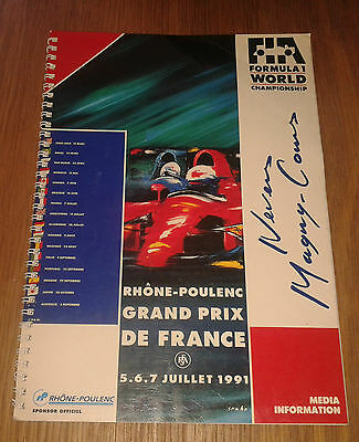 1991 French Grand Prix Official Press Media pack
