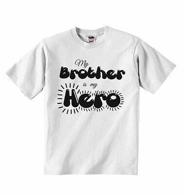 My Brother is my Hero - Baby Boys Girls T-shirt T shirt Tees Cute Soft Present