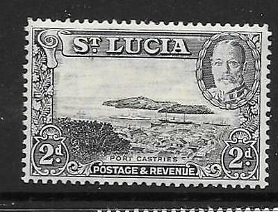 ST.LUCIA SG116 1936 2d BLACK & GREY MTD MINT