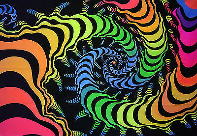 uv backdrop IN STOCK NOW psychedelic fractal art/wall hanging dj banner