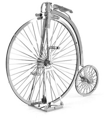 "Fascinations Metal Earth 3D Laser Cut Models ""high Wheel Bicyle"" Silver Edition"