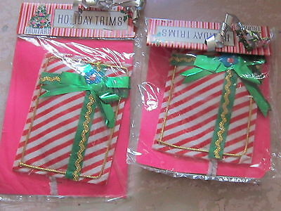 NEW Old Stock Holiday Trims FruitArt packages NIP cute Christmas decoration chic