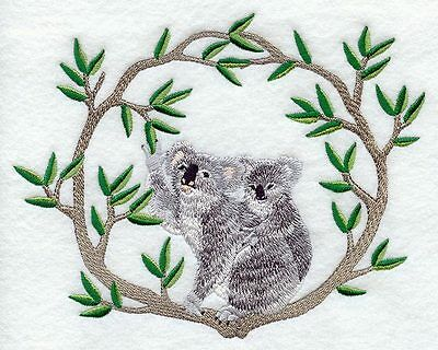 Embroidered Long-Sleeved T-Shirt - Koala and Baby M1937