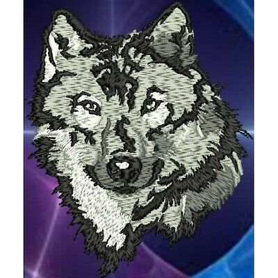 Embroidered Long-Sleeved T-Shirt - Wolf  PE06