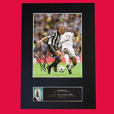 ALAN SHEARER Newcastle Signed Reproduction Autograph Mounted Photo Print A4 640