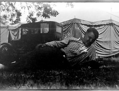 BF31 Photo Negative Belle Barchus Vaudeville Theater Big Top Tent Vtg Car