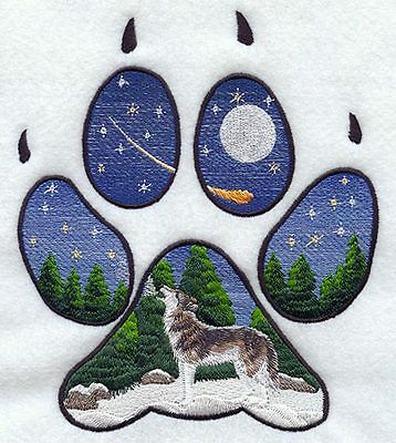 Embroidered Long-Sleeved T-Shirt - Wolf Track M1550 Sizes S - XXL