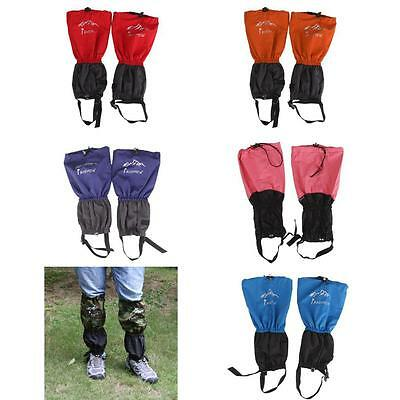 RIPSTOP WATERPROOF GAITERS Hiking Fishing Full Length Boot Cover Shoes Leg Wrap