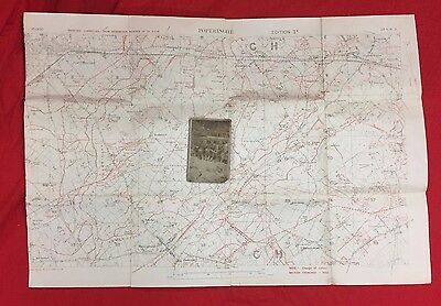 Ww1 British Army Trench Map Poperinge 1918, Official Govt  Issue Rare.