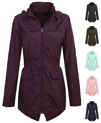 New Girls Hooded Fishtail Mac Lightweight Showerproof Parka Rain Jacket