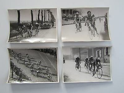 4 Photos presse CYCLISME - PARIS - CAEN  (LE GREVES ROCHEFORT ...)   1934