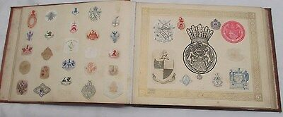 V Rare Victorian Book Of Over 1100 ELEVEN HUNDRED  Arms Crests And Monograms