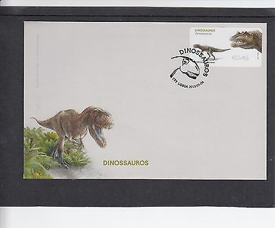 Portugal 2015 Post & Go Dinosaur Ceratosaurus sp First Day Cover FDC