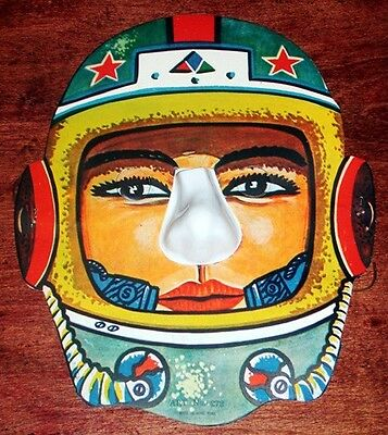 Vintage 1950's ASTRONAUT Halloween Costume MASK SPACE Japan Old Store Stock NOS