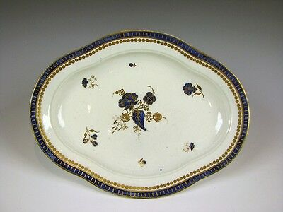 "RARE 18th C. Antique English Porcelain ""SALOPIAN"" marked Caughley Tray C. 1780"