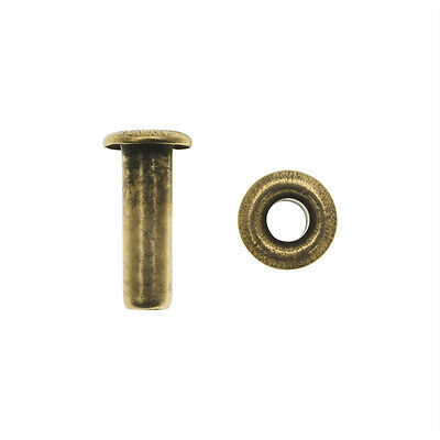 """Create Recklessly, Hollow Eyelets 3/32"""" x 1/4"""", 48 Pieces, Antiqued Brass Plated"""