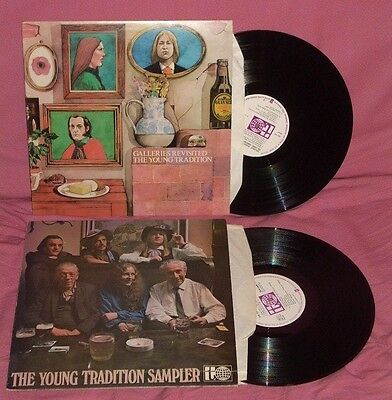 Young Tradition-Lot Of 2 Uk Press Folk Lps-Galleries Revisited/sampler