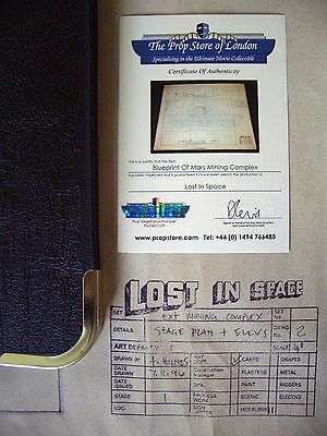 Lost In Space Mars Mining Blueprint Movie Film Prop Matt LeBlanc + COA PropStore