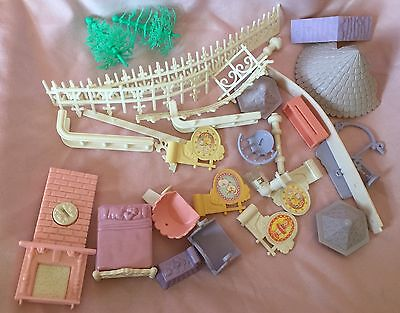 Lot Of Vintage Fisher Price Precious Places Miscellaneous Replacement Pieces A