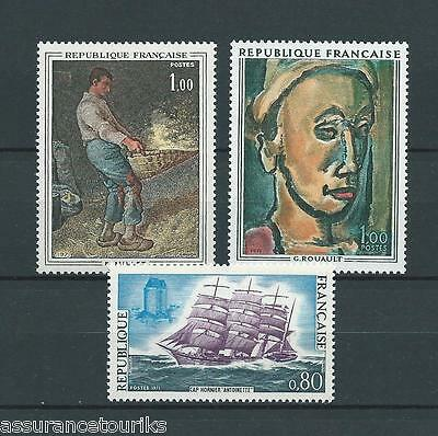 FRANCE - 1971 YT 1672 à 1674 - TIMBRES NEUFS** LUXE