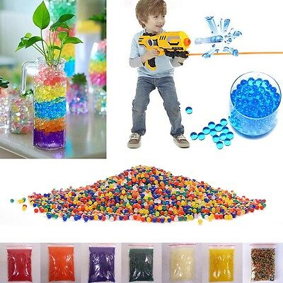 10000pcs/packet 9-13mm colored orbeez soft crystal water paintball nerf gun bull