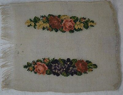 needle point petit point miniature 3 in silk handmade doll house antique