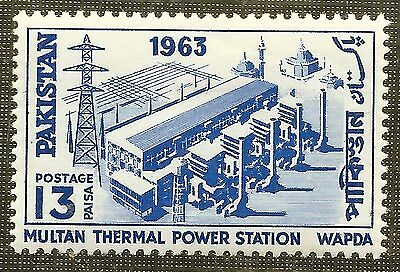 MINT 13p STAMP 1963 PAKISTAN COMPLETION of MULTAN THERMAL POWER STATION