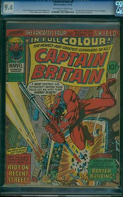 Captain Britain 8 CGC 9.4 - OW/W Pages - 1st Psylocke