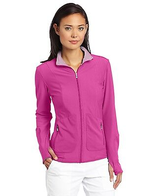 NEW Lady Adidas Golf Climalite Textured Knit Jacket Pink Size Small Womens