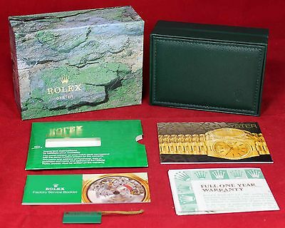 Rolex Oyster Inner & Outer 68.00.71 Box w/ Owner's Manual & Warranty - NO WATCH
