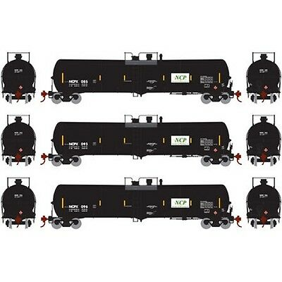Athearn ATH98471 HO 30,000-Gallon Ethanol Tank Pack NCPX #3 (3) Rolling Stock