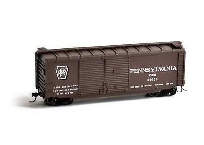 Athearn ATH14737 HO Scale RTR 40' Double Door Box PRR #64650 Rolling Stock