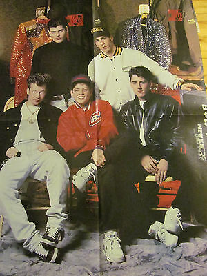 New Kids on the Block, Four Page Vintage Foldout Poster