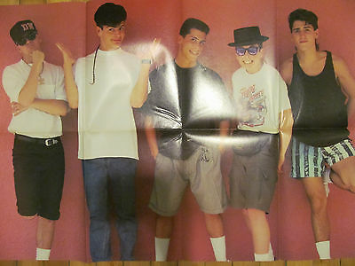 New Kids on the Block, EIGHT Page Vintage Foldout Poster Magazine