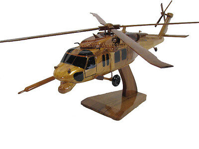 Sikorsky HH-60 Pave Hawk Military USAF AFSOC CSAR Helicopter Wood Wooden Model